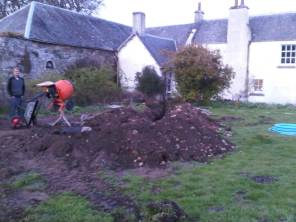 Trench dug... next job pipe...