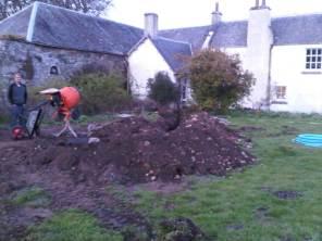 Trench dug... next job pipe...