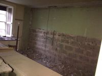 Kitchen wall - half down - 20121216