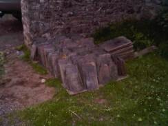 Reclaimed slates waiting for action...