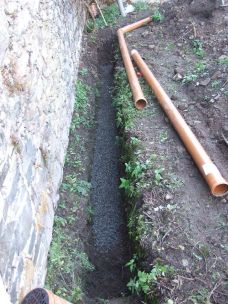 Drains ready to lay