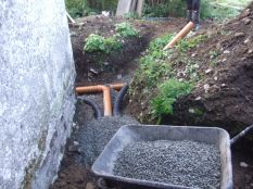 New drains in place