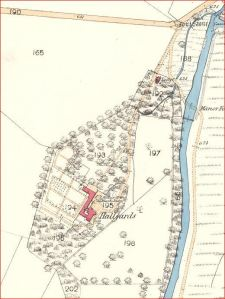 1856 OS Map - Hallyards