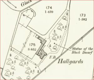 1898 OS Map - Hallyards - Gardens