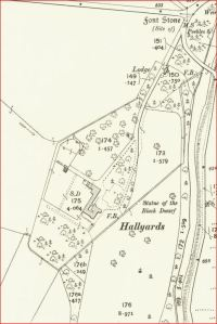 1908 OS Map - Hallyards