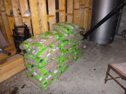 Our first supply of pellets