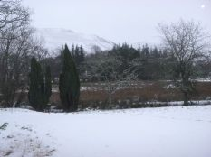 Snowtime - View across to hills - 13012013