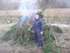 Meg by the bonfire - 24022013