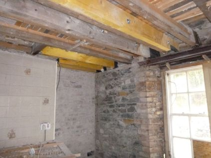House - Kitchen - New Beams - 03032013