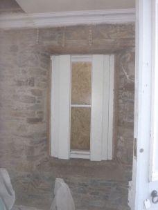 Porch window stripped - 11032013