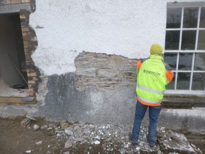 Render removal - back wall 2 - 25032013