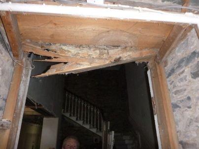 Rotten timber - porch doorway - 23032013