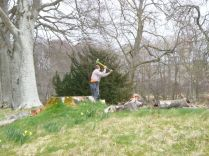Liam chopping timber - 29042013