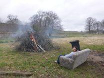 Tony on old sofa by bonfire 2 - 21042013