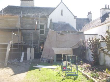 Harling - front & porch - hessian - 22052013