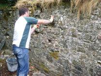 Tony rebuilding SWG wall - 01072013