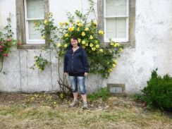 Yellow roses & Meg - 15072013