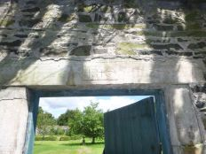 Walled garden - date stone - 12082013