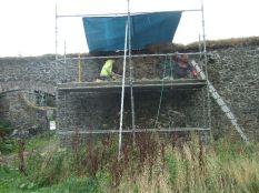 Garden Wall repairs 2 - Oct 2013 - TC