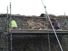 Garden Wall repairs 3 - Oct 2013 - TC