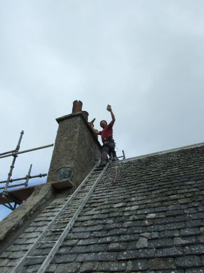 Harling - Gable chimney - Tony 2 - Oct 2013 - TC