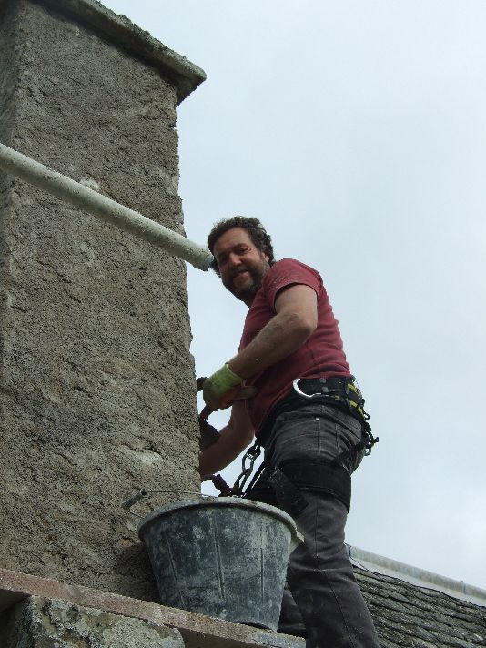 Harling - Gable chimney - Tony - Oct 2013 - TC
