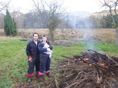 Meg & Andy by bonfire - 30112013