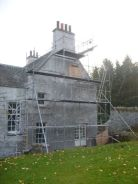 Rear gable - lime wash - 16112013