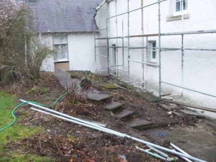 Clearing the back steps - 23022014