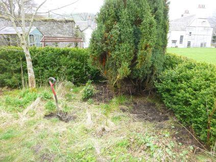 Digging teh flower garden - 26042014