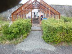 Glasshouse path with gravel - 13042014