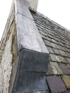 Leadwork on skews - hall - 28042014