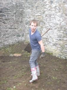 Ben clearing the piggery - 29052014
