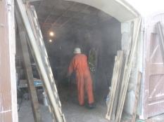 Dad processing timber - 25052014