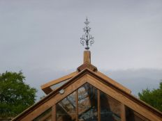 Glasshouse - finial in place- 18052014