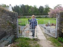 Meg painting gates - 17052014