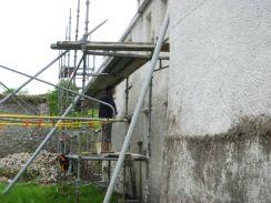 More limewashing - Yew Avenue wall - 07052014