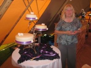 Mum with cake