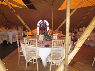 Tipi set up