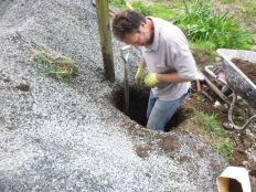 Tony in the gate post hole 2 - 17052014