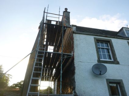 Harling on gable 2 - 17072014