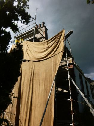 Hessian on gable - 11072014