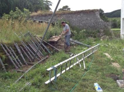 Tony cleaning bricks - 14072014 - SH