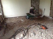 Kitchen floor removal - 11082014
