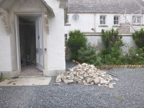 Stone pile from wall - 17082104