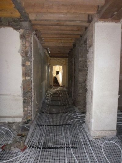 Corridor - UFH pipes - 21042015