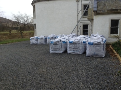 Floor material arriving - 02042015 - SH