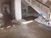 Floor prep - main hall - 09042015
