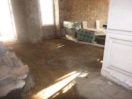 Floor prep - main hall 3 - 09042015