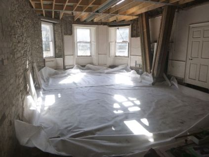 Geotextile in round room - 05042015